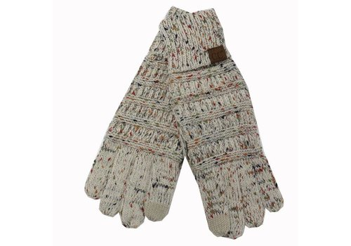 C.C Oatmeal Speckled Gloves