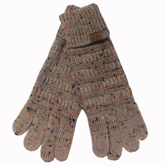 C.C Taupe Speckled Gloves