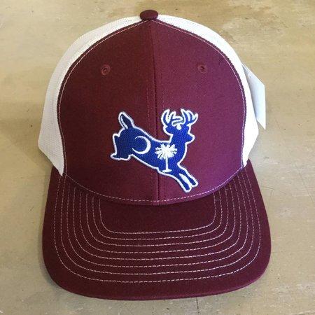 Dixie Fowl White Tail Hat Garnett/White
