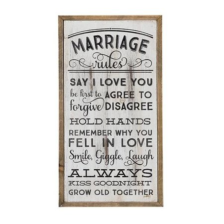 Wooden Wall Art Marriage Rules