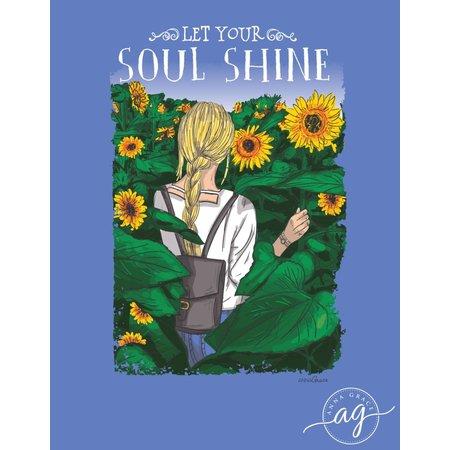Soul Shine Mystic Blue Short Sleeve T-Shirt