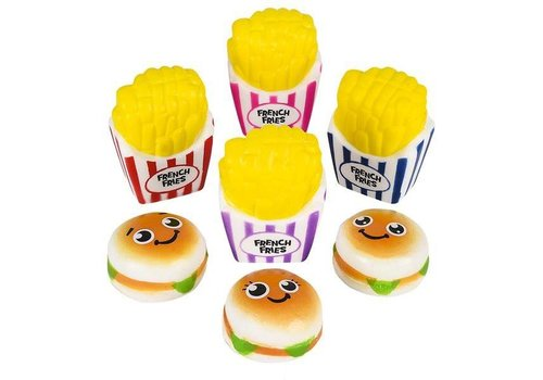 Toy Network Variety of French Fries or Hamburgers Squishy