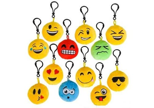 "Toy Network 2.75"" Plush Emoticon Keychain Assorted"