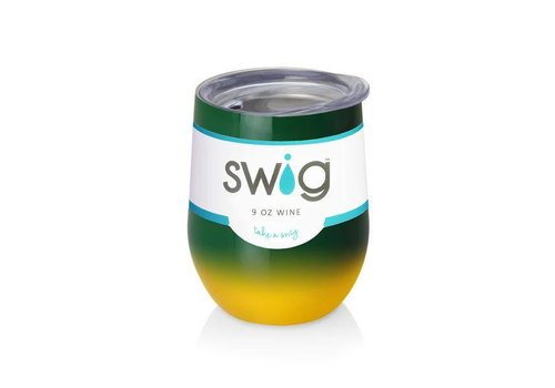 Swig Swig 12oz Wine Green|Yellow