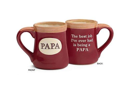 Mug Papa With Message On Back