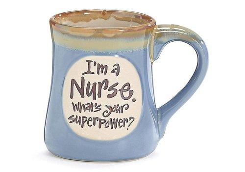 Mug Superpower Nurse Message