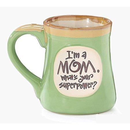 Mug Superpower Mom Message