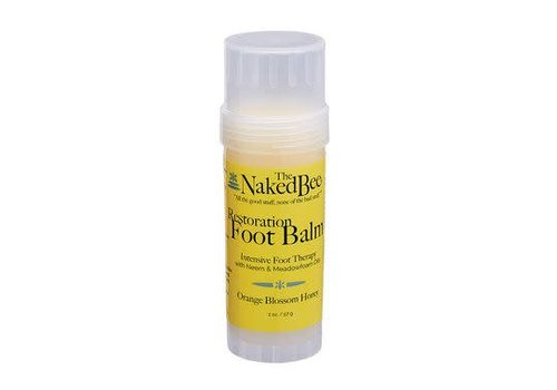 Naked Bee Restoration Foot Balm Twist up Tube 2 oz