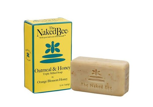 Naked Bee Large Oatmeal & Honey Triple Mill Soap