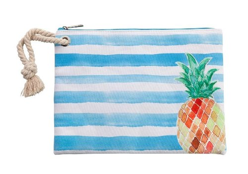 Beach Surf Bikini Bag With Rope and PVC Lining Pineapple