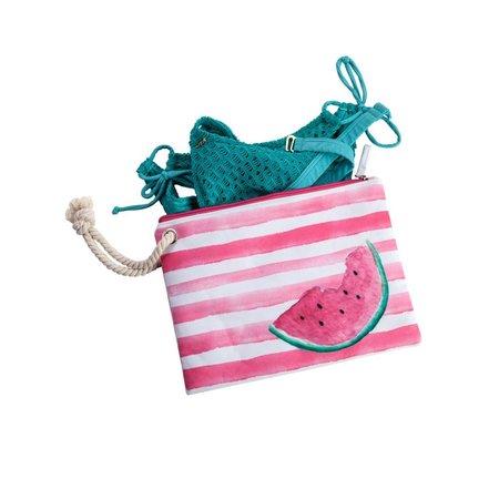 Beach Surf Bikini Bag With Rope and PVC Lining Watermelon