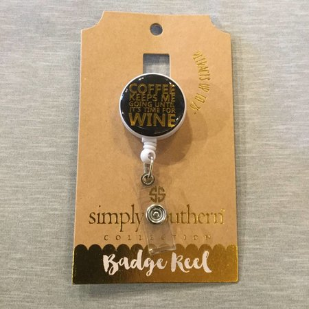 Lanyard Badge Reel Wine