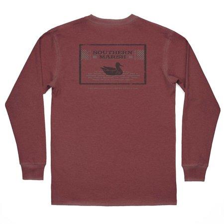 Men's Seawash LS Pond Crimson