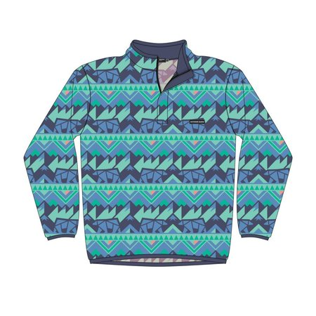 Southern Marsh Fairbanks Pullover Navy & Mint Youth