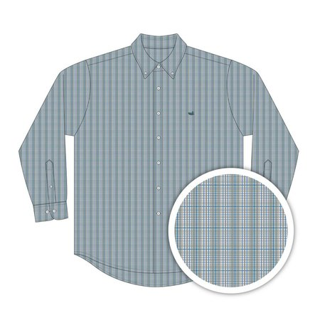 Kid's Davidson Washed Check Green & Blue Youth