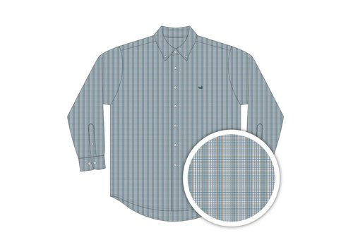 Southern Marsh Southern Marsh Davidson Washed Check Green & Blue Youth