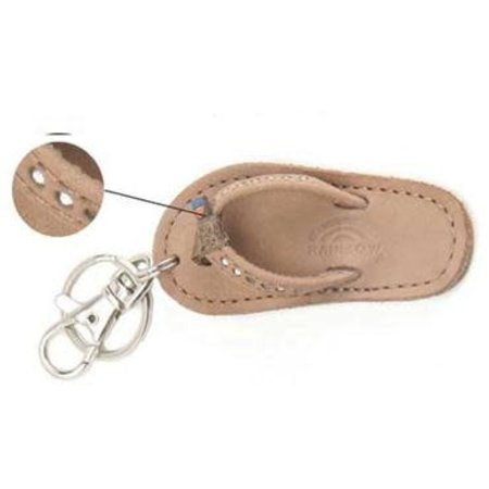 Sandal Crystal Key Chain Dark Brown