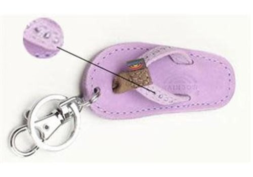 Rainbow Sandals Sandal Crystal Key Chain Lavender