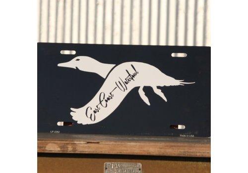East Coast Waterfowl ECW Black Pintail License Plate