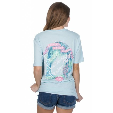Lauren James Sweet Southern Swing Cool Blue SS Tee