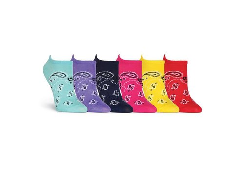 K.Bell Women's Bandanas 6 Pair Pack Socks