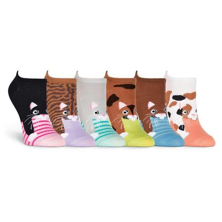 Women's Cats 6 Pair Pack Socks Pink