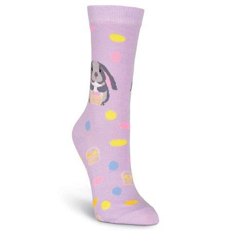 Women's Easter Bunny Crew Socks Purple