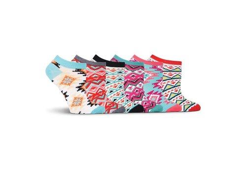 K.Bell Women's Aztec Print Socks 6 Pair