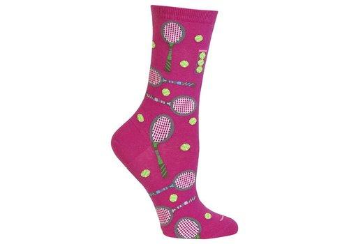 HOT SOX Women's Tennis Sock Dark Pink