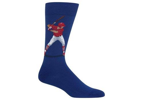 HOT SOX Men's Baseball Batter Sock Blue