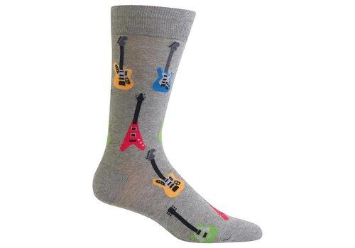 HOT SOX Men's Electric Guitars Sock Grey