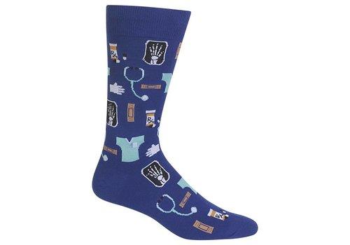 HOT SOX Men's Medical Sock Dark Blue