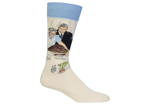 HOT SOX Men's Norman Rockwell Freedom From Want Sock