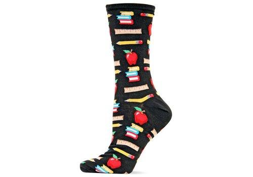 HOT SOX Women's Originals Teacher's Pet Crew Trouser Sock Black