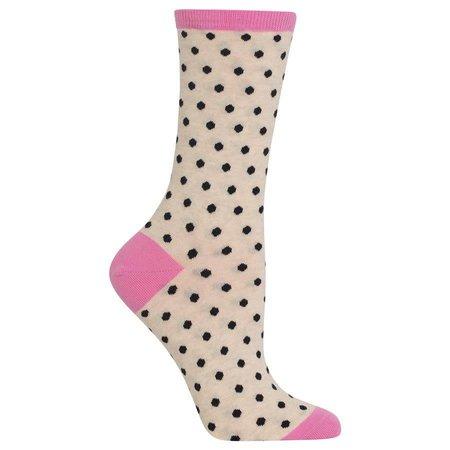 Women's Small Polka Dots Sock Oatmeal
