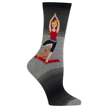 Women's Yoga Girl Sock Grey