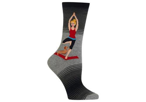 HOT SOX Women's Yoga Girl Sock Grey