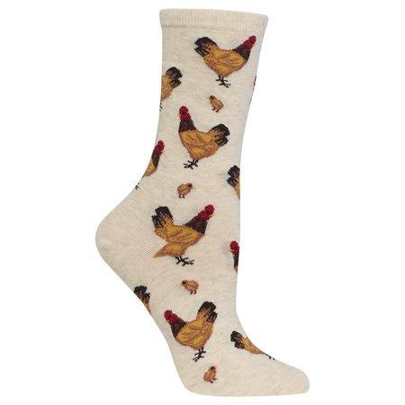 Women's Chicken Sock Beige