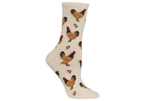 HOT SOX Women's Chicken Sock Beige