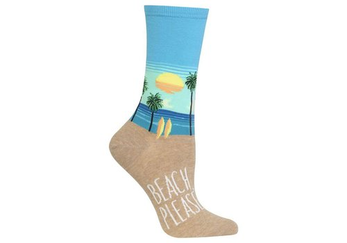 HOT SOX Women's Beach Please Sock Blue