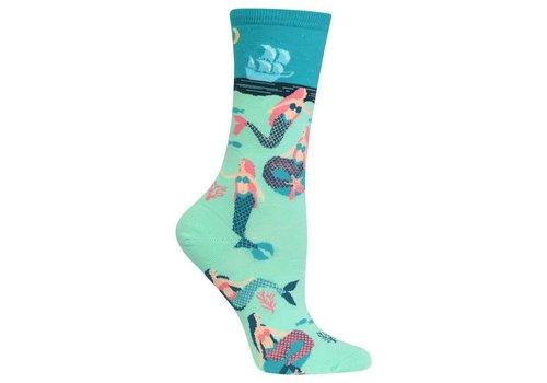 HOT SOX Women's Mermaids Sock Green