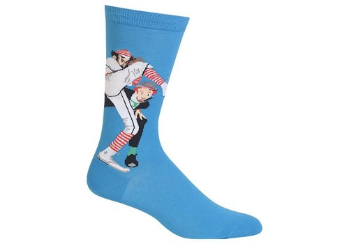 HOT SOX Men's Norman Rockwell 100 Years of Baseball Sock