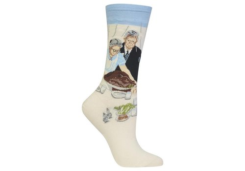 HOT SOX Women's Norman Rockwell Freedom From Want Sock Blue