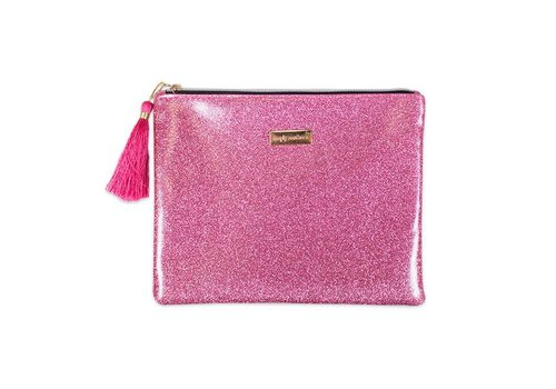 Simply Southern Simply Southern Glitter Pink Brush Bag