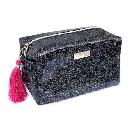 Glitter Black Cosmetic Bag