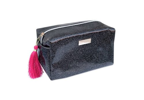 Simply Southern Simply Southern Glitter Black Cosmetic Bag