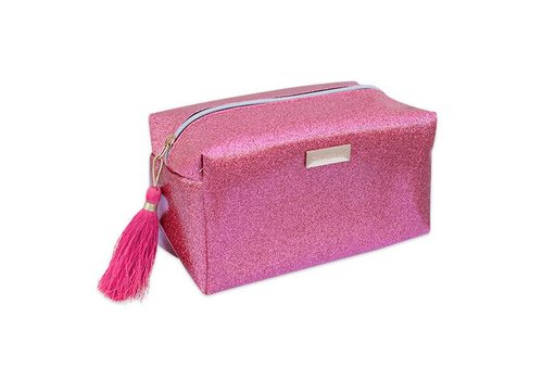 Simply Southern Simply Southern Glitter Pink Cosmetic Bag