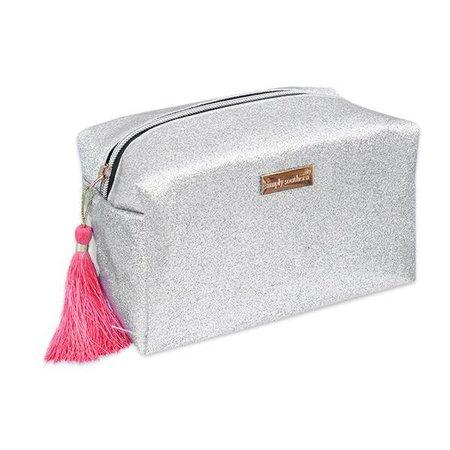 Glitter Silver Cosmetic Bag