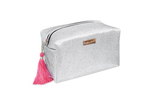 Simply Southern Simply Southern Glitter Silver Cosmetic Bag