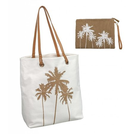Cabo Palm Tree Tote & Bikini Bag Combo